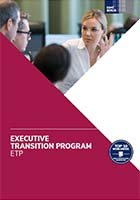 brochure cover Executive Transition Program