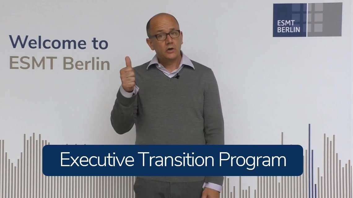 The Executive Transition Program - Are you ready for the next level of leadership?