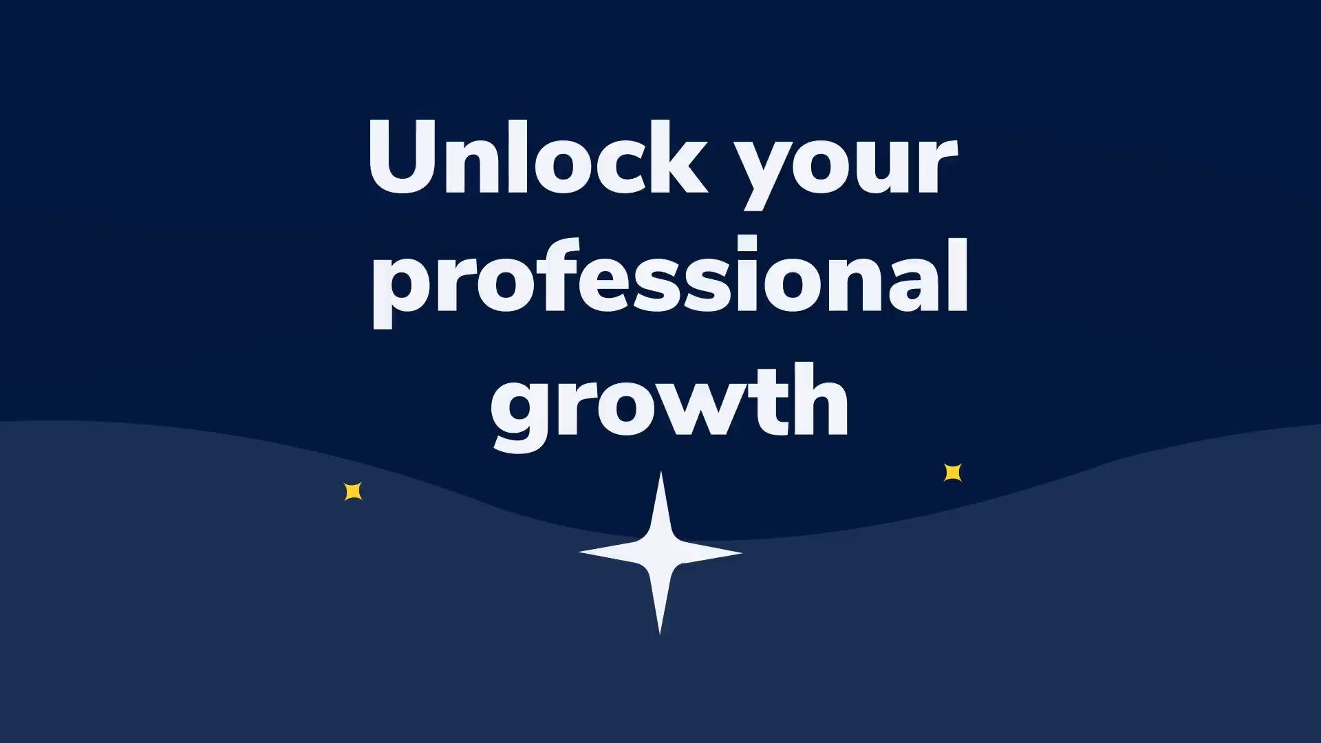 "Intro slide of the video, text ""Unlock your potential growth"""